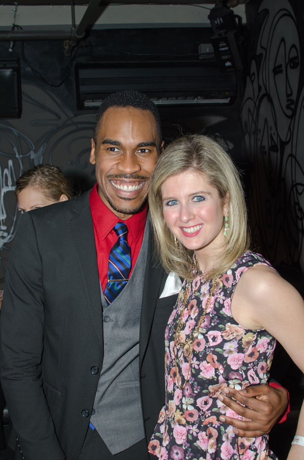 Pictured with fashion designer, O'Neal Wyche