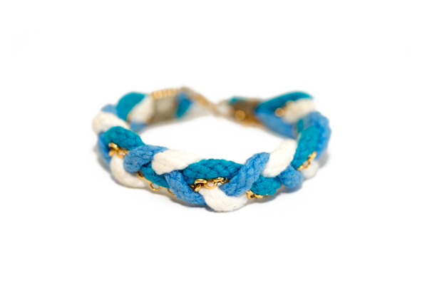 Ocean Blue Braided Bracelet