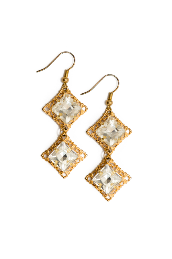 Crystal Vermeil Earrings