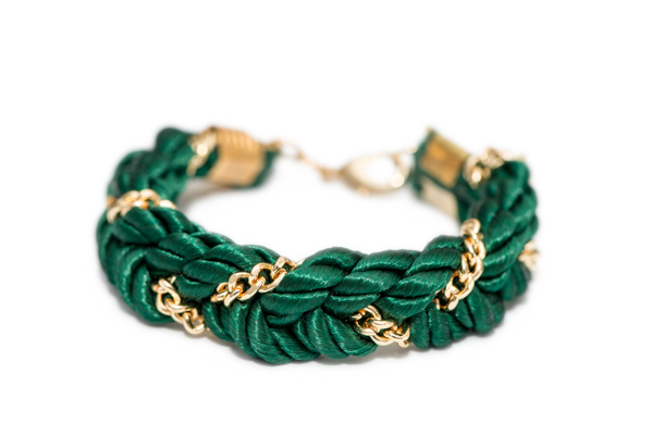 Emerald Braided Bracelet
