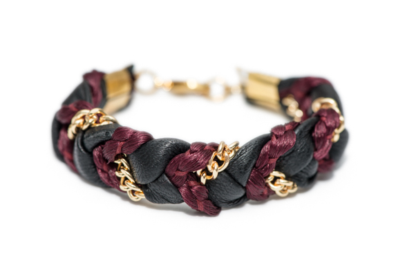 Bordeaux Braided Bracelet